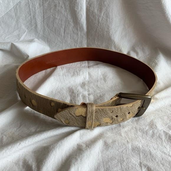 Tommy Hilfiger Size S Leather Belt Animal Print